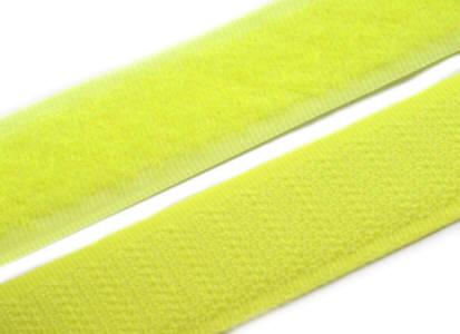 1 Meter Klettverschlussband 2cm breit, neon gelb