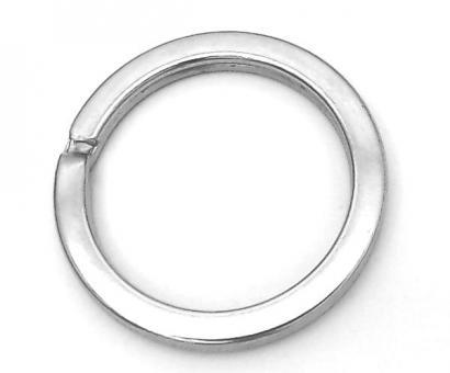5 Schlüsselringe 22 mm innen Nickel / Silber glänzend extra stark