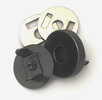 Magnetverschluss Nickel-Schwarz 14 mm für Taschen