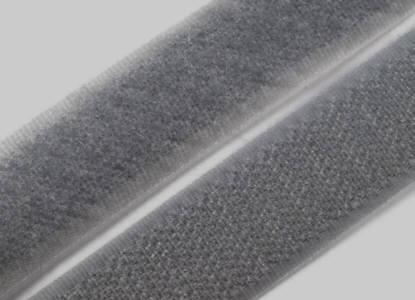 1 Meter Klettverschlussband 2cm breit, dunkel-grau