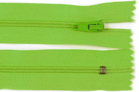 Reißverschluss grün, 3mm, 12cm lang