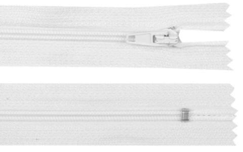 Reißverschluss weiss, 3mm, 30cm