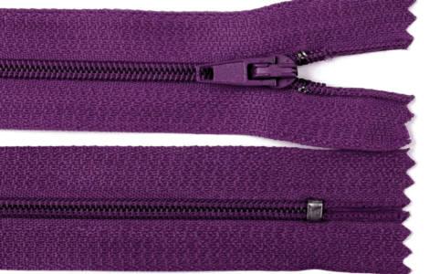 Reißverschluss lila, 3mm, 30cm