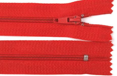 Reißverschluss rot, 3mm, 30cm