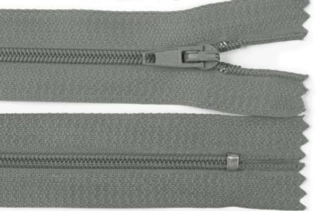 Reißverschluss grau, 3mm, 30cm