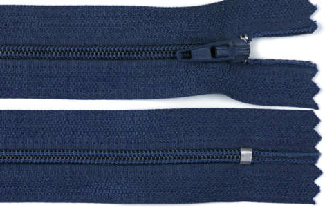 Reißverschluss dunkel-blau, 3mm, 40cm
