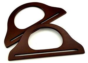 Taschengriffe aus Holz mahagoni