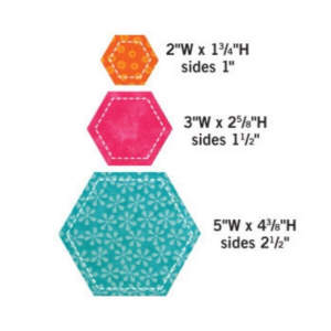 Accu Quilt - Accuquilt Stanzform Hexagon 2, 3, 5 inch