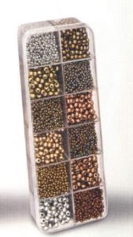 Rocailles-Set 12-fach sortiert bronze