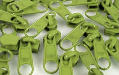 Reissverschluss Schieber grün für 3mm