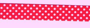 Schrägband vorgefalzt Rot mit Pünktchen