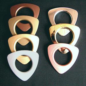 Taschenringe, Taschenösen dreieckig Kupfer matt