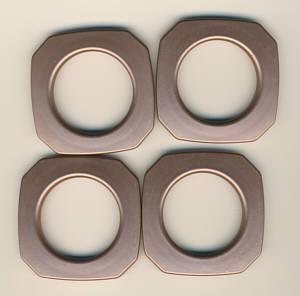 Taschenringe, Taschenösen viereckig Kupfer matt