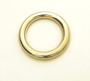 Metallring / Rundring Gold glänzend 20 mm