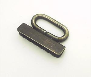 Bandklemme - Key-Fob 30mm Altmessing als Schlüsselbandrohling