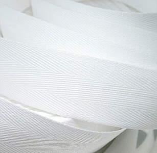 Köperband - Posamente weiss Breite 12 mm