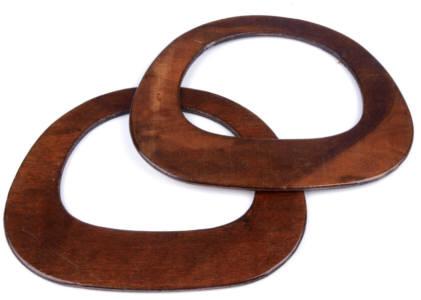 Taschengriffe aus Holz braun 16x19,5 cm