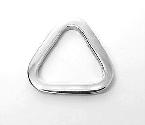 Dreieck-Ring Nickel glänzend 2,5 cm
