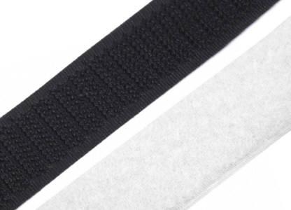 10 Klettverschlussband Farbenmix 2cm schwarz/weiss