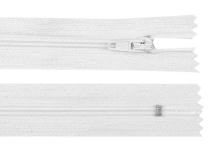 Reißverschluss weiss, 3mm, 50cm