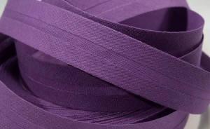 Schrägband farbig uni 20 mm100% BW lila