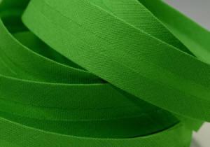 Schrägband farbig uni 20 mm100% BW  grün