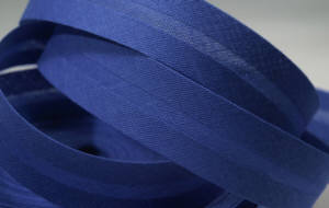 Schrägband farbig uni 20 mm 100% BW royal blau