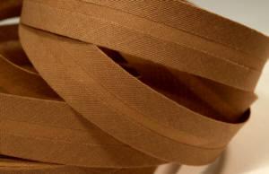 Schrägband farbig uni 20 mm 100% Baumwolle braun