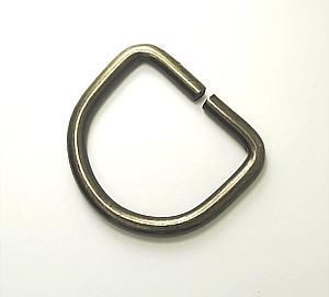 D-Ring Altmessing matt 30mm / 3cm