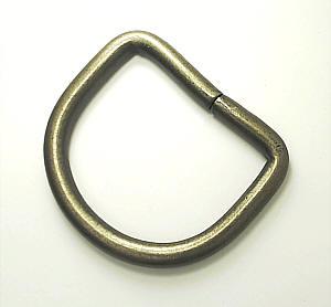 D-Ring Altmessing matt 40mm / 4 cm