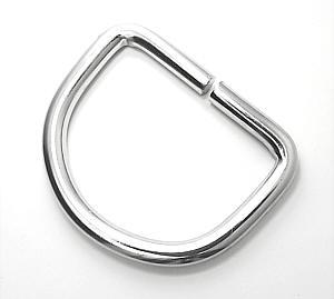 D-Ring Nickel glänzend 40mm / 4 cm
