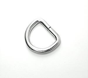 D-Ring Nickel glänzend 20mm / 2cm