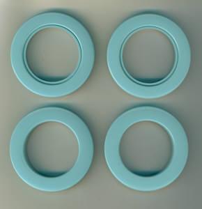 Taschenringe extra Stark 35,5 mm aqua