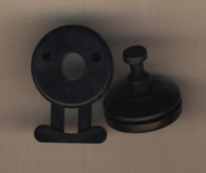 Taschenverschluss/ Schnellverschluss schwarz 2,25 cm Kunststoff