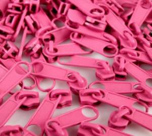 Reissverschluss Schieber pink für 3mm