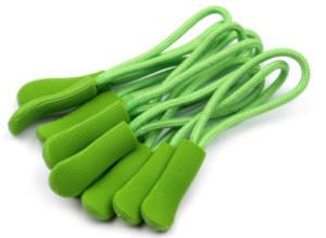 1 Stück Zipperanhänger Schlaufe limetten grün