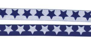 Webband STARS in Blau/Weiß