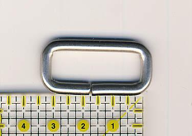 Ring oval 30mm Nickel matt