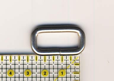 Ring oval 25mm Nickel matt