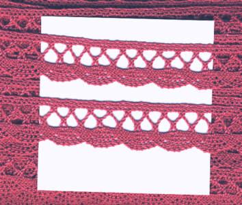 Klöppelspitze aus Baumwolle Breite 18mm Alt Rosa