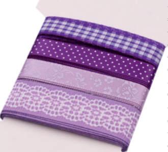 Bänder-Sets Mix 4x1 m Violett