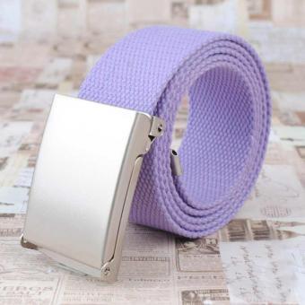 Canvas Gürtel für Sie in hellem Violett