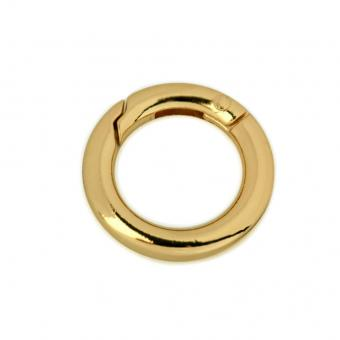 Karabiner 18,5 mm innen - rund Gold glänzend
