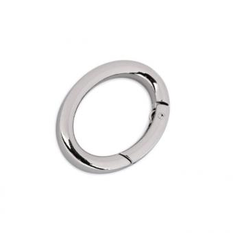 Karabiner Oval 19 x 29 mm innen - Nickel / Silber glänzend