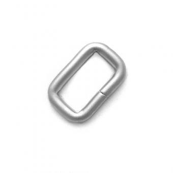 Ring oval 20mm Innenbreite Nickel matt