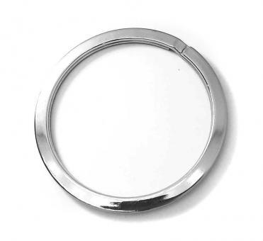 4 Schlüsselringe extra groß 45mm innen / 53 mm Außendurchmesser Farbe Silber glänzend