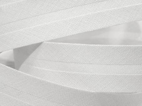 5 m Schrägband uni weiss 20mm 100% Baumwolle