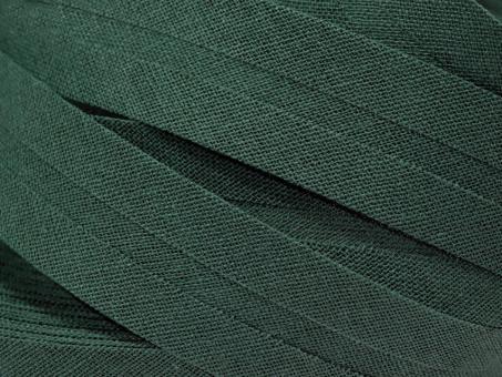 5 m Schrägband uni tannengrün 20mm 100% Baumwolle