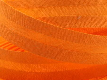 5 m Schrägband uni orange 20mm 100% Baumwolle