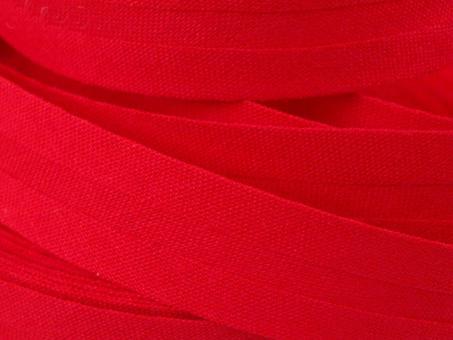 5 m Schrägband uni rot 20mm 100% Baumwolle
